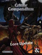 Critter Compendium Lore Update