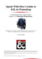 Guide to ESL in Waterdeep