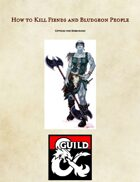 How to Kill Fiends and Bludgeon People - A Book of Barbarian Options