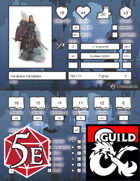 Simple Character Sheet - 5e Character Cards