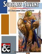 Subclass Savant Volume 1: Barbarian, Paladin, and Warlock Subclasses