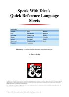Quick Reference Language Sheets