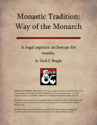 Monastic Tradition: Way of the Monarch