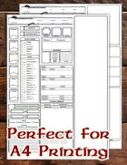 5e Chatacter Sheet (A4/Fillable/Auto-Calc)