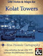 DM Notes & Maps for Kolat Towers 8.1 Waterdeep: Dragon Heist (single)