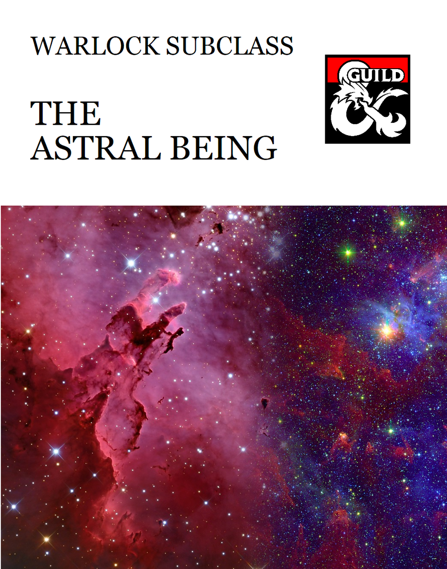 Warlock Patron - The Astral Being - Dungeon Masters Guild