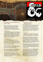 College of the Wrestler - Bardic College
