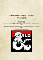 Creature Club Collection Volume 2