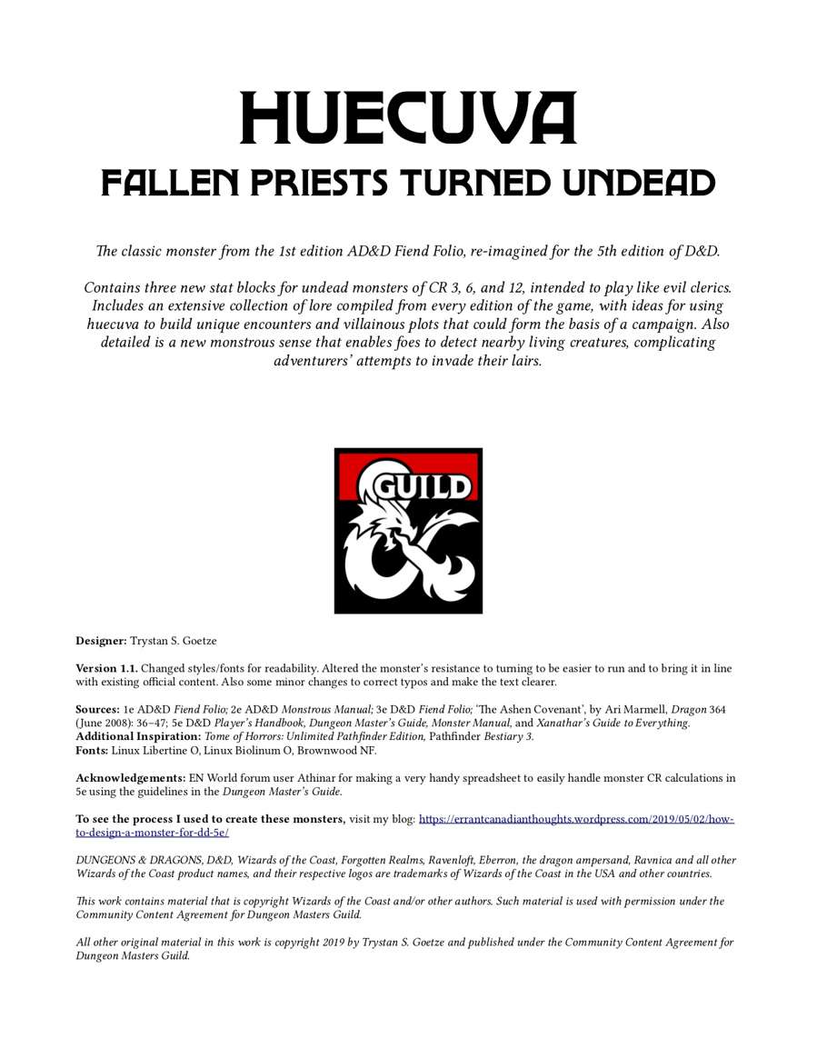 Huecuva Fallen Priests Turned Undead Dungeon Masters Guild