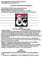 Adventuring Guild / Company Contract - Trollskull Manor Waterdeep