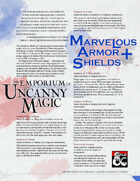 The Emporium of Uncanny Magic — Marvelous Armor and Shields