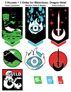 art 004 - Dragon Heist 2 House + 1 Orders Emblems