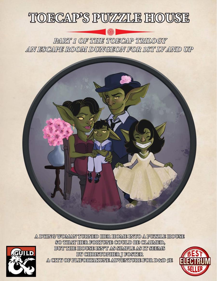 Toecap's Puzzle House - Dungeon Masters Guild   DriveThruRPG com