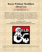 Alternate Races Part 1: Dwarves