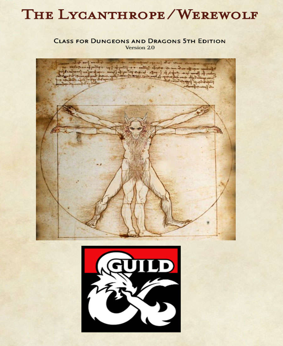 The Lycanthrope/Werewolf DnD 5e Class - Dungeon Masters Guild