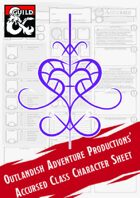 Accursed Class Character Sheet (Outlandish Adventure Productions)