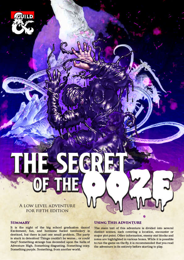 Adventure High Secret Of The Ooze 1st Tier Adventure 5e Dungeon Masters Guild Dungeon Masters Guild That's a dc 14 intelligence (nature) skill check. usd