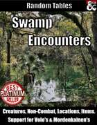 Swamp Encounters - Table Rolls
