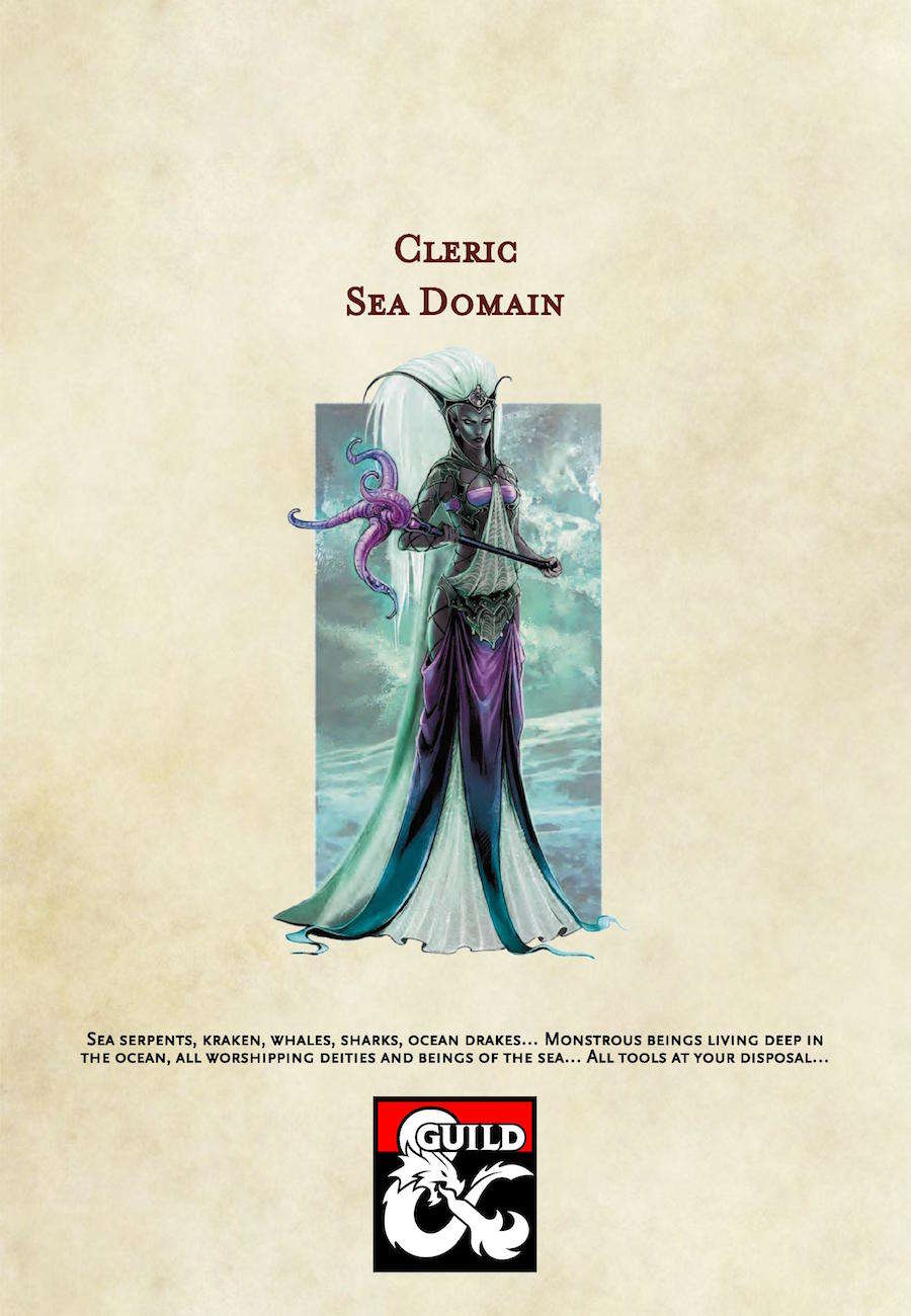 5th Edition Cleric Subclass: Sea Domain - Dungeon Masters Guild   Dungeon  Masters Guild