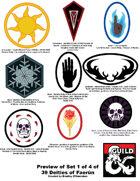 art 006 - Symbols for Deities of Faerun : 9 deity icons