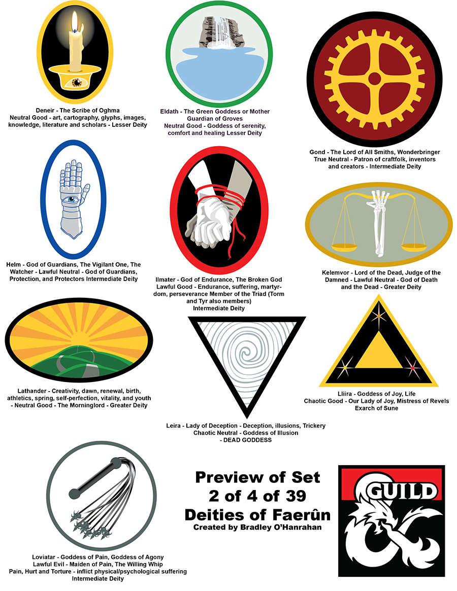 art 007 - Symbols for Deities of Faerun : 10 deity icons - Dungeon Masters  Guild | Dungeon Masters Guild