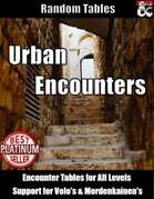 Table Rolls - Urban Encounters