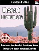 Desert Encounters - Table Rolls