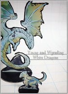 White Dragons - Young and Wyrmling Cut out Miniatures