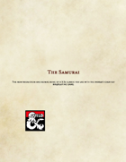 The Samurai Class Preview