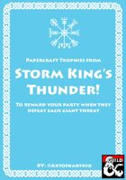 Papercraft Trophies-Storm Kings Thunder