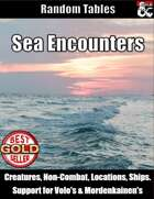 Sea Adventures - Tables for Encounters and Locations
