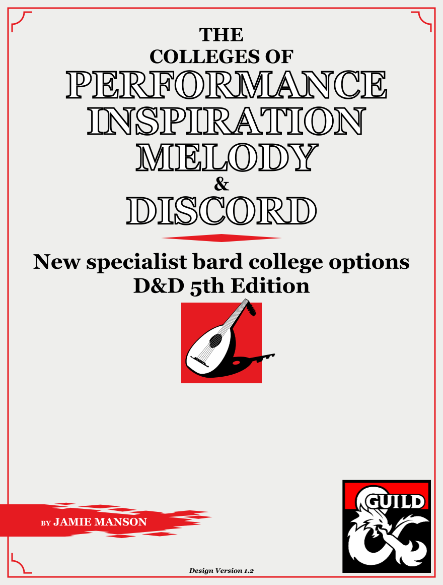 The Bard Colleges of Performance, Inspiration, Melody and