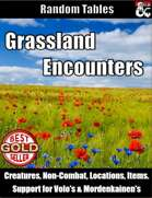 Table Rolls - Grassland Encounters