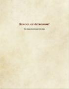 Wizard Subclass-School of Astronomy