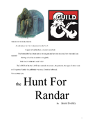 The Hunt For Randar