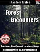 Forest Encounters - Table Rolls
