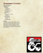 5th Edition Homebrew Ruleset