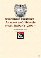 Sorcerous Sundries - Compendium of Magic Items from Baldur's Gate - Armors and Helmets