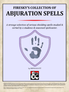 Firesky's Collection of Abjuration Spells