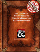 100 Less Than Useful Books to Find on a Forgotten Realms Bookshelf