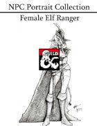 NPC Portrait Collection - Female Elf Ranger