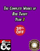 The Complete Works of Rob Twohy 2018 [BUNDLE]