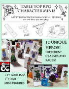 Printable Mini Figures- Heros and Goblins