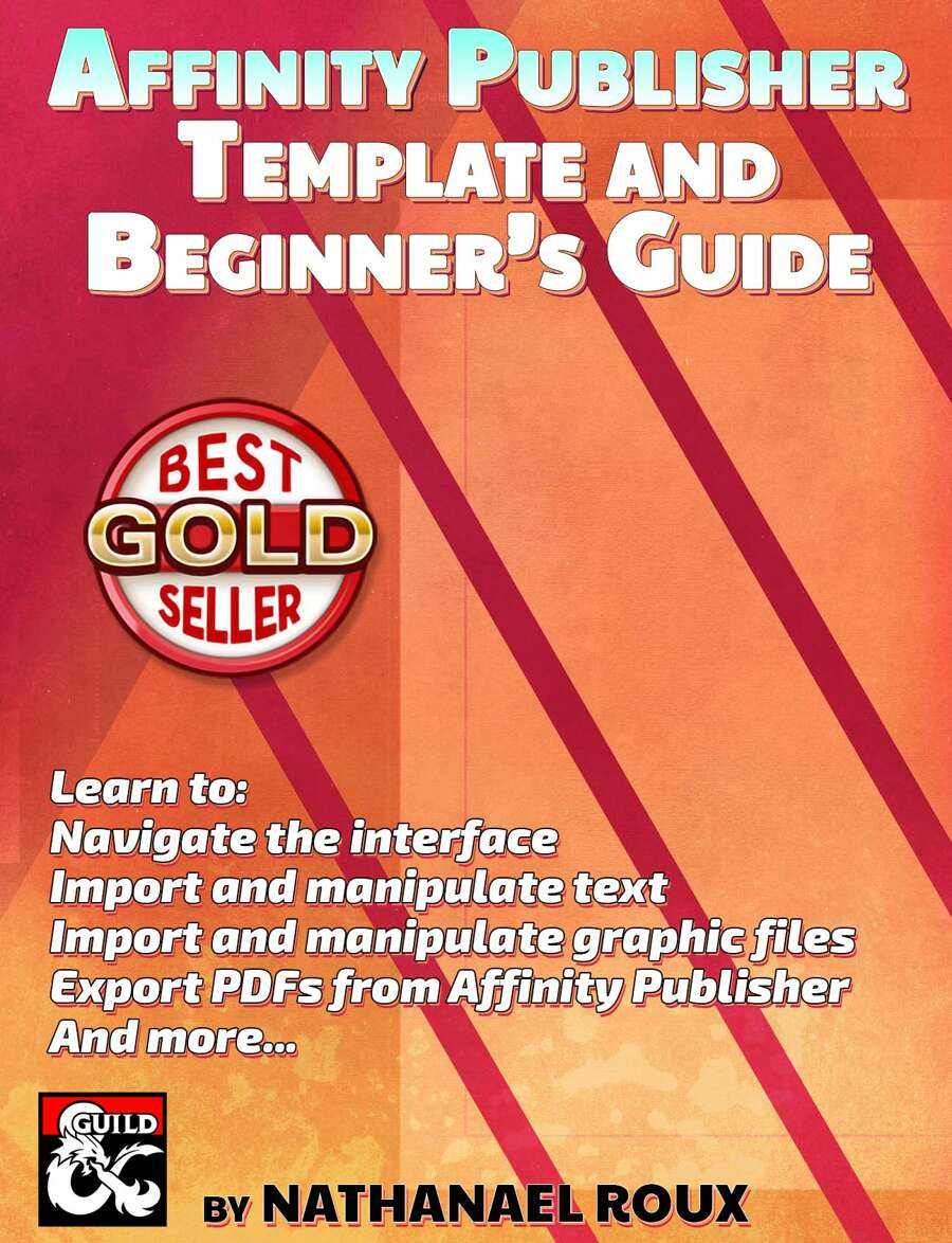 Affinity Publisher Template And Beginner S Guide Dungeon Masters