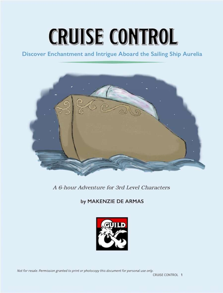 Cruise Control Should Not Be Used >> Cruise Control Dungeon Masters Guild Dungeon Masters Guild