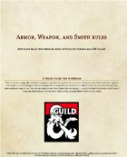 Armor, Weapon, and Smith Rules