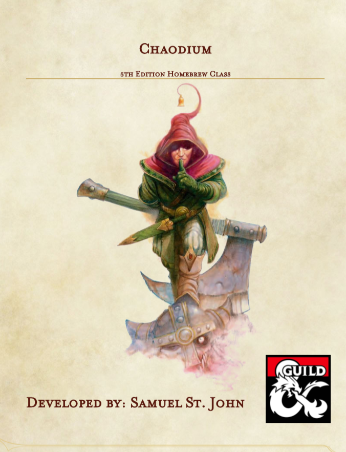 Chaodium - A 5e Homebrew Class - Dungeon Masters Guild | Dungeon Masters  Guild