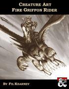 Creature Art Fire Griffon Rider