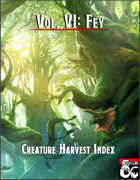 Creature Harvest Index - Fey