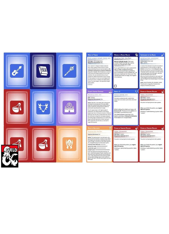 Printable Magic Item Cards 5e